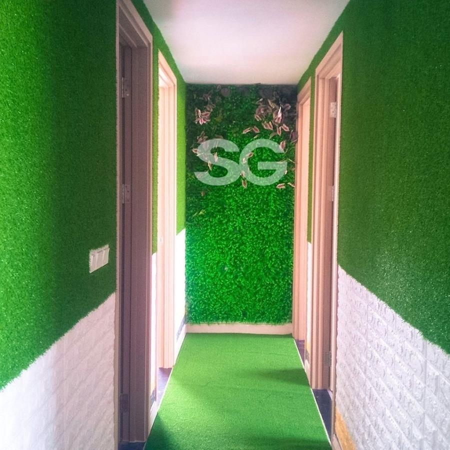 Thảm cỏ nhân tạo trang trí tường
