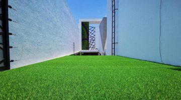 Thảm cỏ nhân tạo trang trí sân vườn