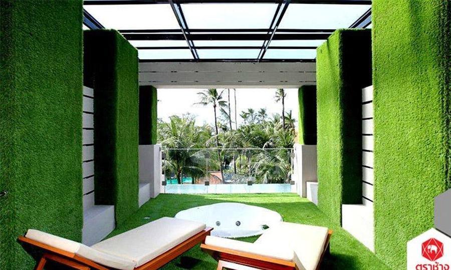 Thảm cỏ nahan tạo ốp tường đẹp