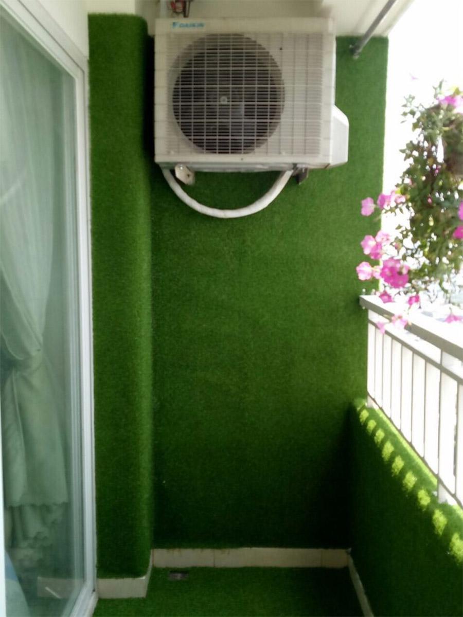 Thảm cỏ nhân tạo ốp tường ban công