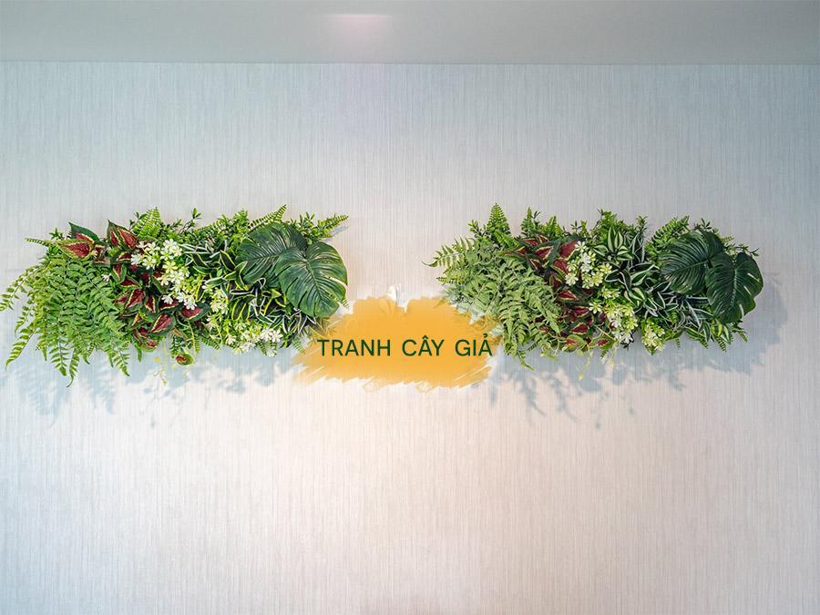 Tranh cây giả trang trí tường