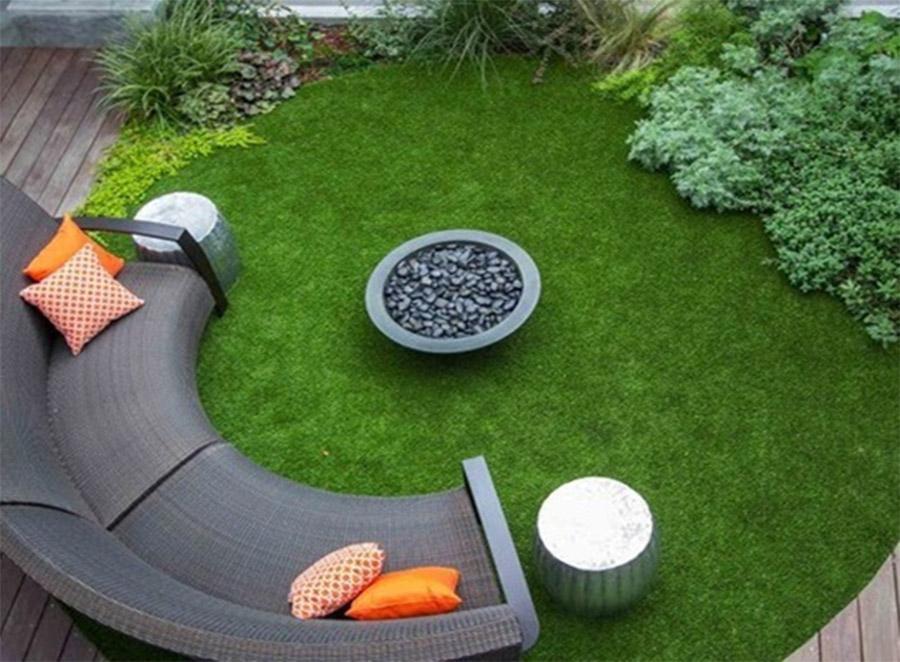 ThTảm cỏ nhân tạo sân vườn