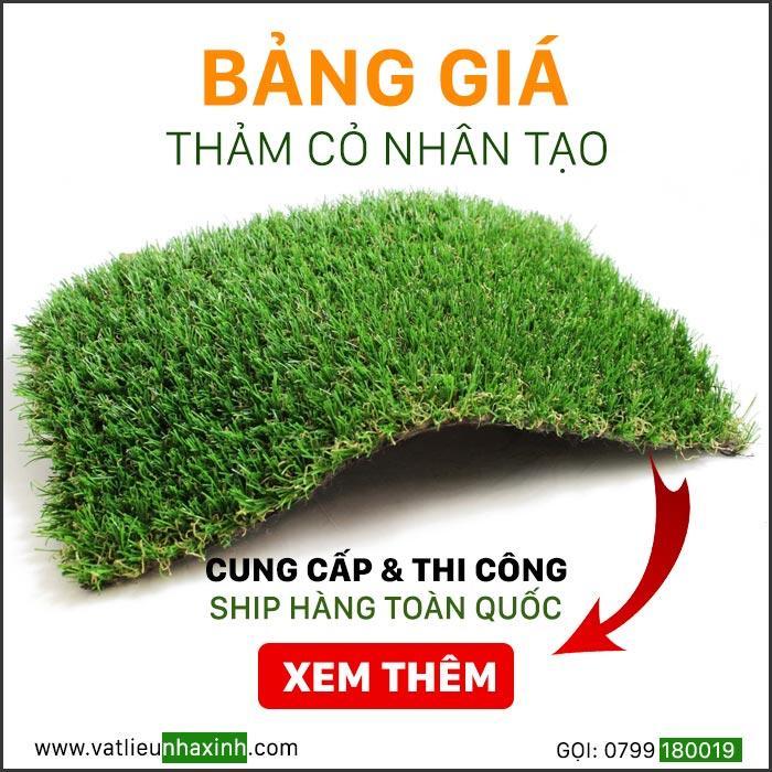 Bảng giá thảm cỏ nhân tạo